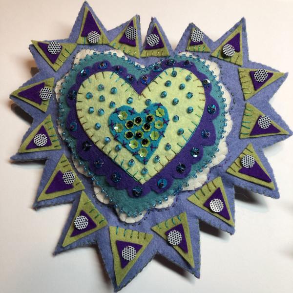 Milagro ~ purple, green, turquoise and lavender by Jane LaFazio