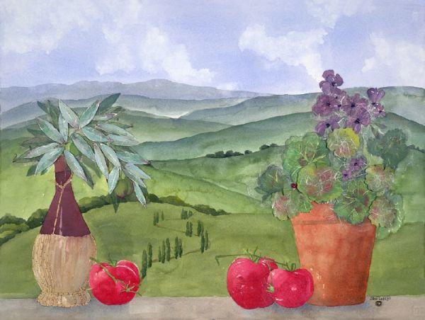 View of Tuscany by Jane LaFazio