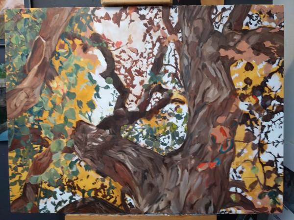 Prayer Tree Work in Progress by Karla Mulry