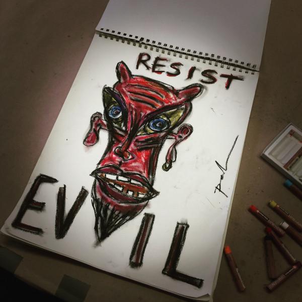 Resist Evil by Dougie Padilla