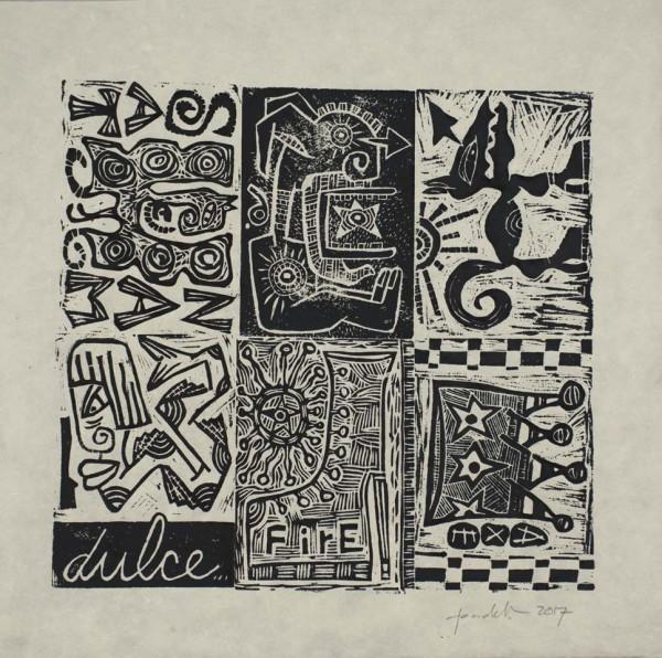 sat nam dog dulce fire axe 1 by Dougie Padilla