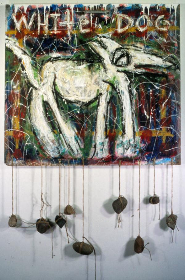 White Dog by Dougie Padilla