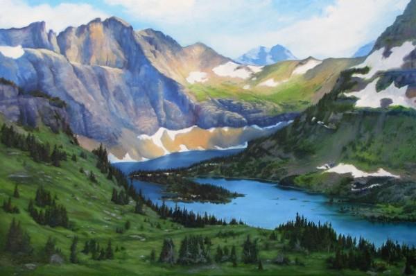 High Mountain Lake by Kathy Mann