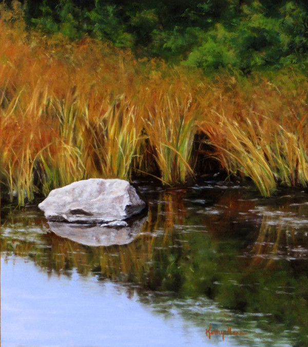 Rock and Reed Grasses by Kathy Mann