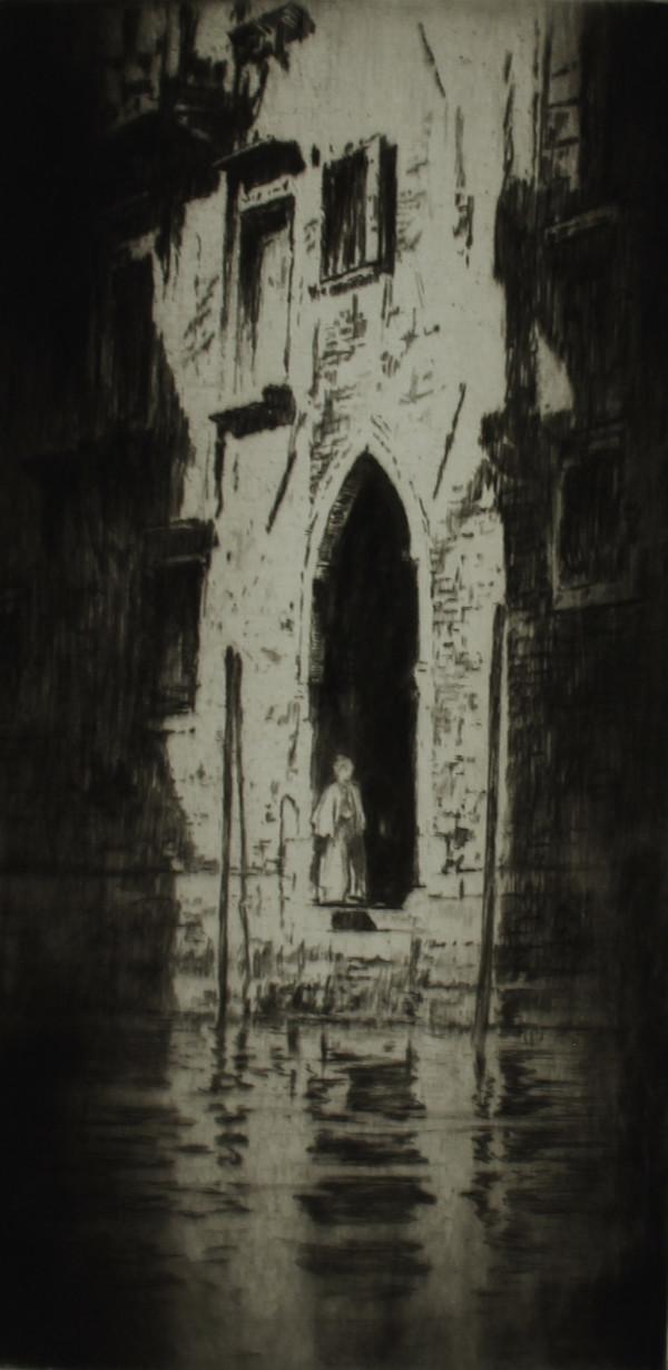 Venetian Doorway - Dark Doorway, Venice by Levon  West (Ivan Dmitri)