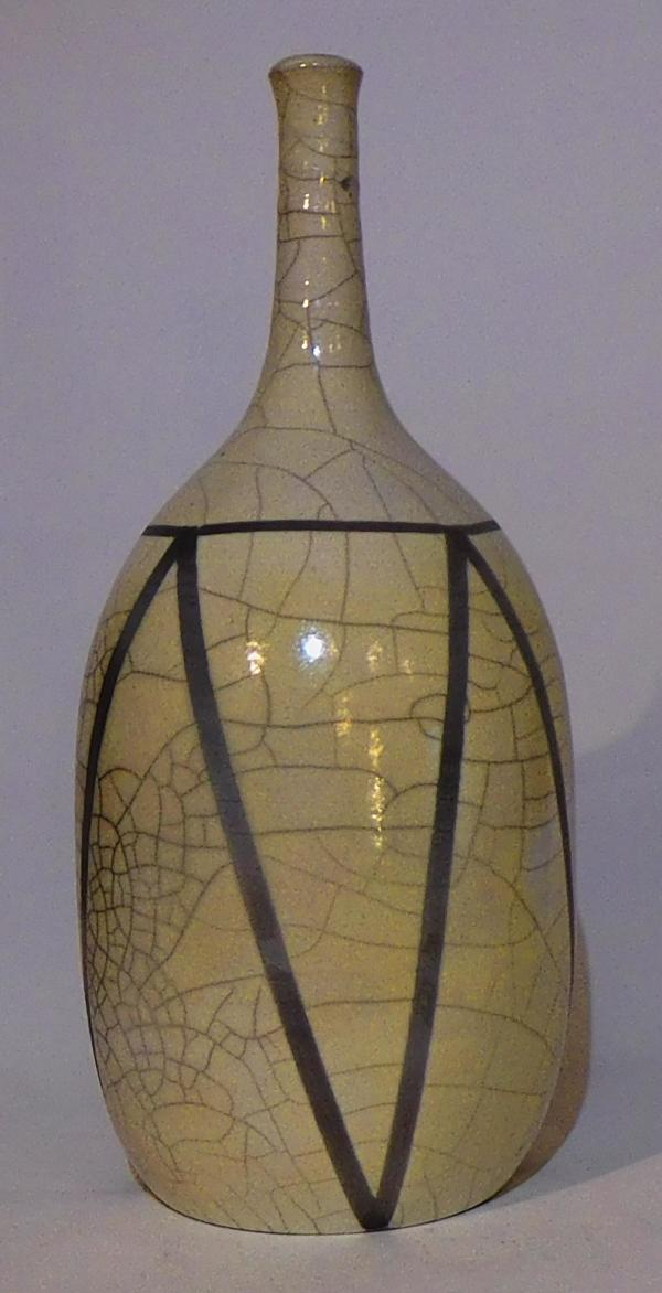 White Crackle Bottle by Dita Lewis-Panter