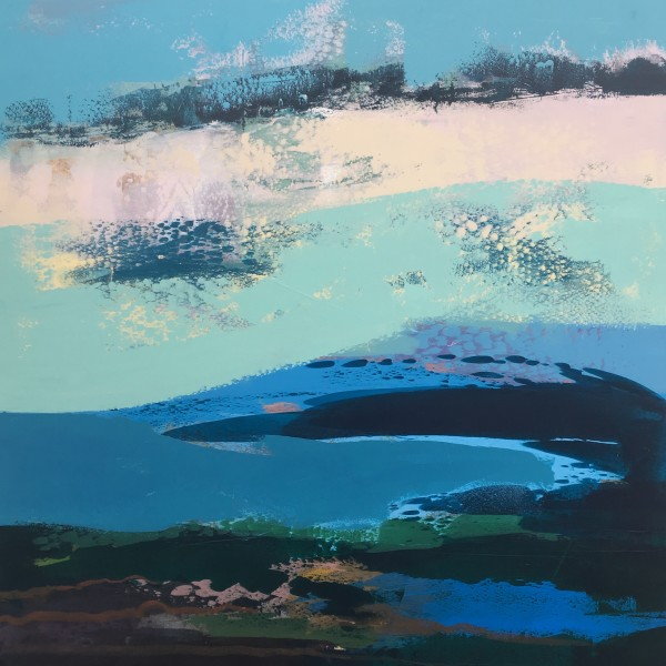 """""""Bealtaine Blue"""" 100x100cms by Grainne Dowling"""
