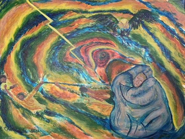 COVID 19 hurricane by Pamela Bell