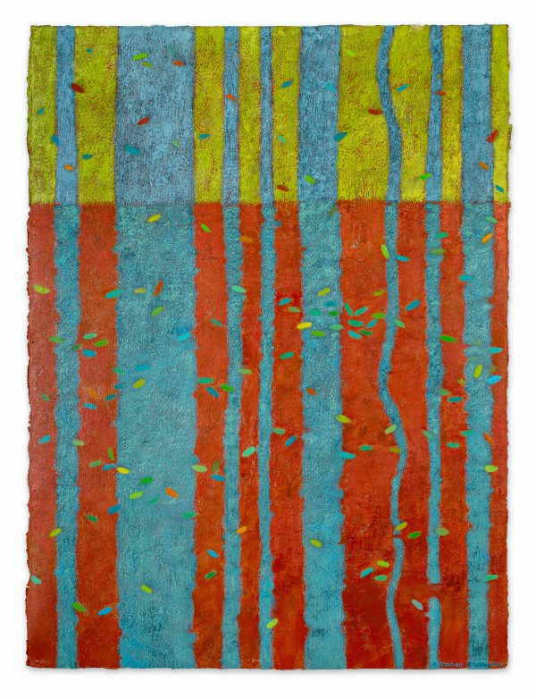 Water Shields and Damselflies #4 by Katherine Steichen Rosing