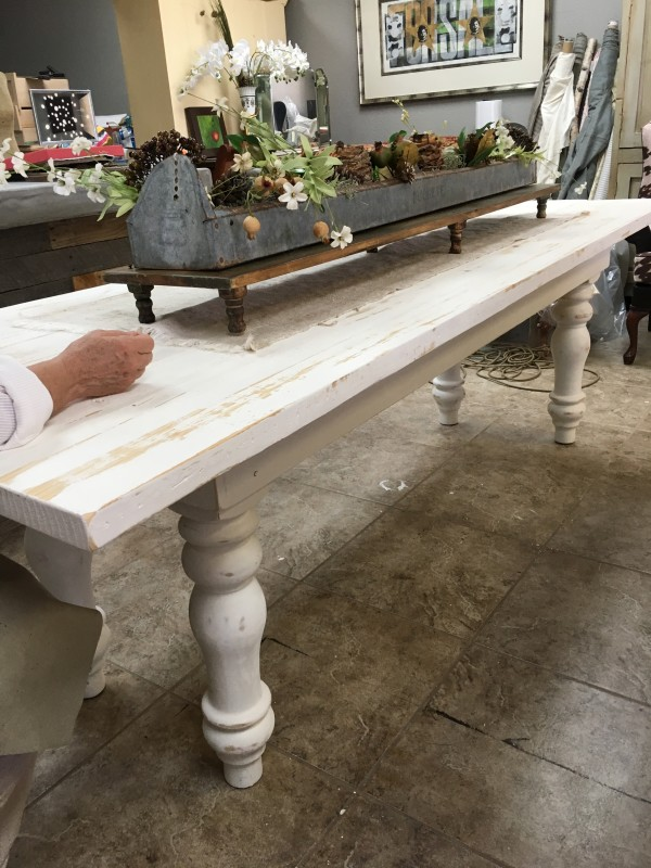 Furniture - Whitewashed Farmhouse table by Ann A Blake