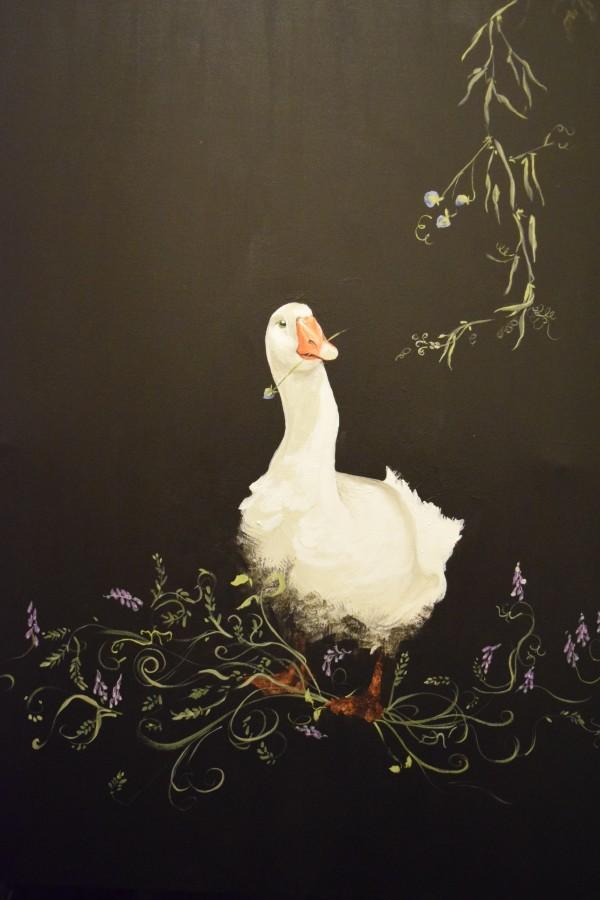 Geese - Nursery Goose by Ann A Blake