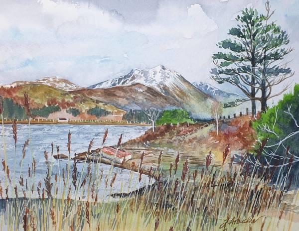Beinn Sgritheall from Camuscross, Isleornsay, Skye by Julie Arbuckle