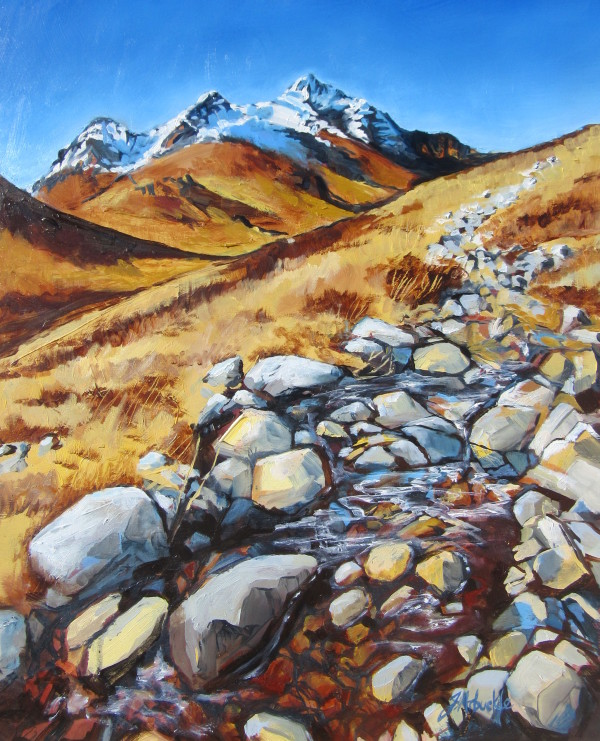 Path through Glen Sligachan by Julie Arbuckle