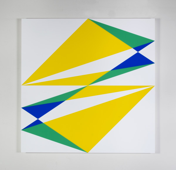 Composition in 2037 Yellow, 2024 Green, 2051 Blue and 7508M White by Brian Zink