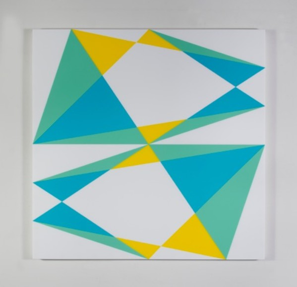 Composition in 2037 Yellow, 5700YT Aqua, 2308 Turquiose and 7508M White by Brian Zink