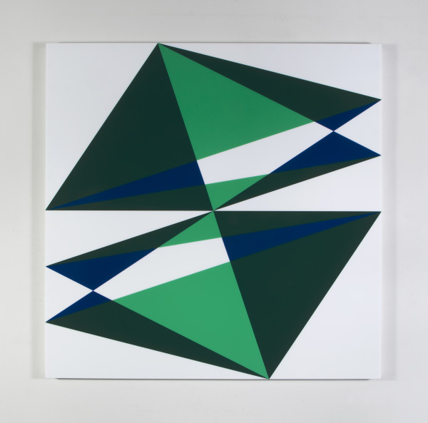 Composition in 2024 Green, 2108 Green, 2114 Blue and 7508M White by Brian Zink