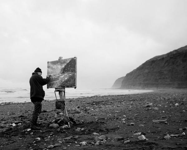 Len Tabner painting, Skinningrove by Chris Killip
