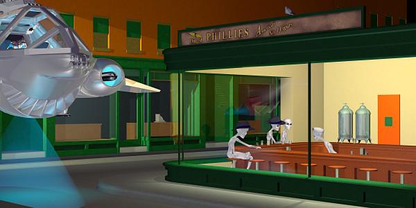 Alien Nighthawks by Peter J Sucy Digital Arts