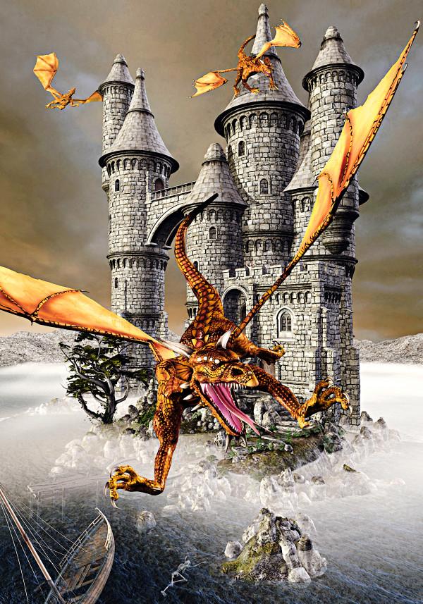 Dragon Castle Isle by Peter J Sucy Digital Arts