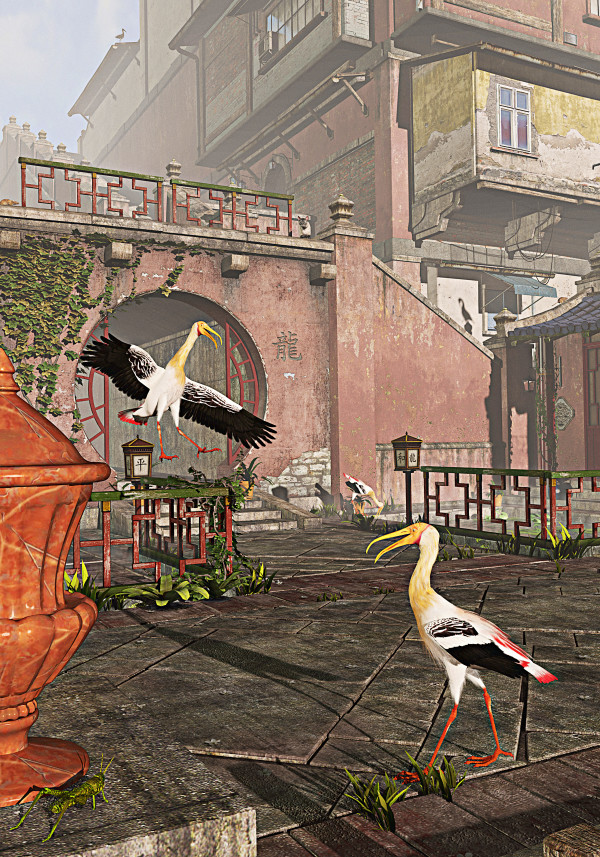 Morning Storks by Peter J Sucy Digital Arts