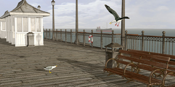 """""""On the Pier"""" - 2015 by Peter J Sucy Digital Arts"""