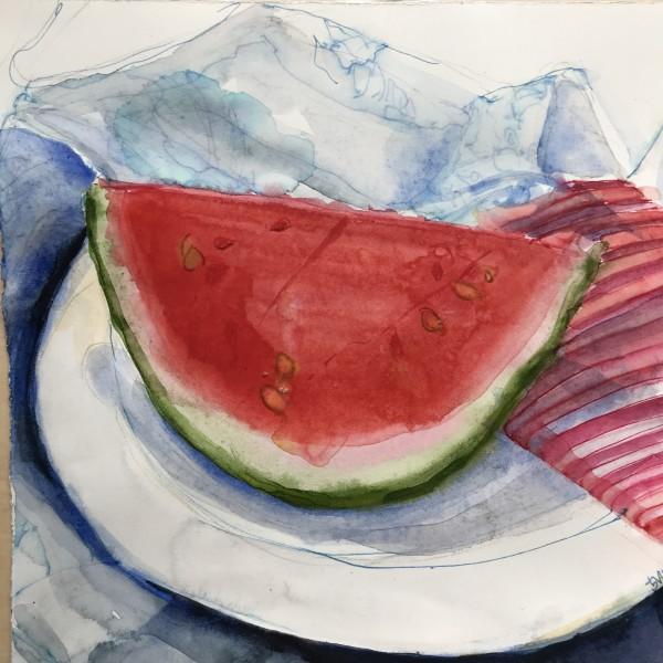 fresh watermelon by beth vendryes williams