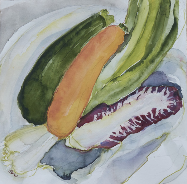 zucchini & radicchio 975 by beth vendryes williams