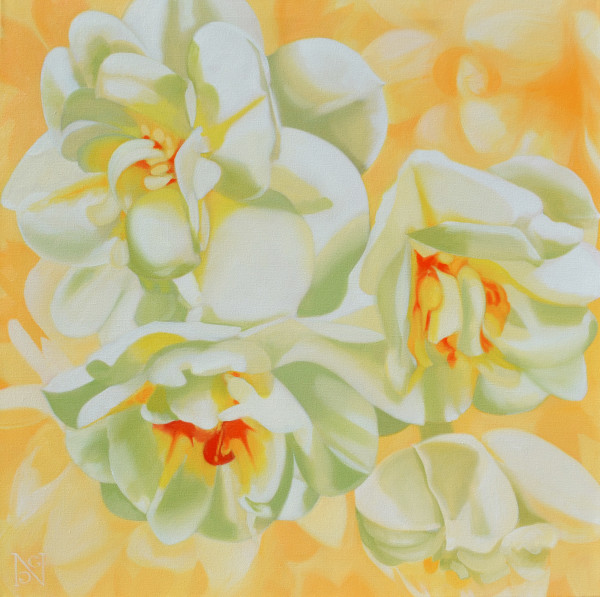 Double Daffodils by Natalie George