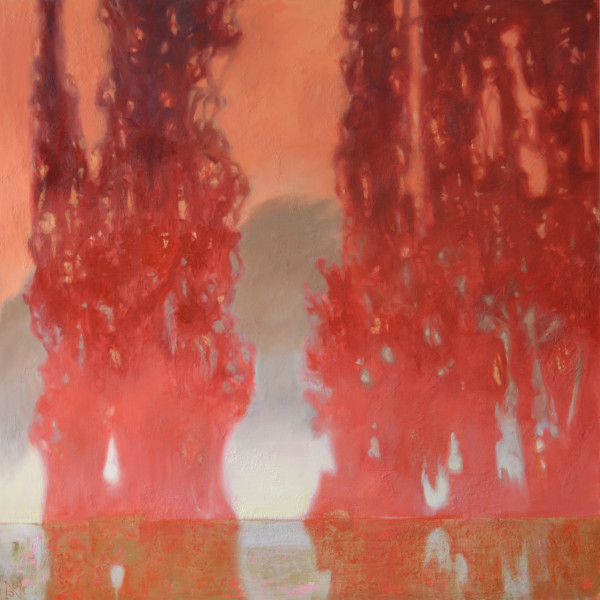 Ombre Cedars II by Natalie George