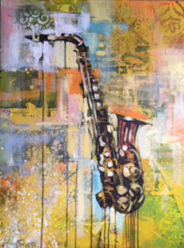 Saxophone Still Life by Charly Palmer