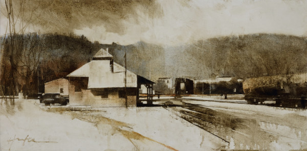 RAILYARD, MARCH AFTERNOON by Charlie Hunter