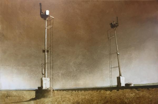 SEMAPHORES NEAR WAGON MOUND by Charlie Hunter