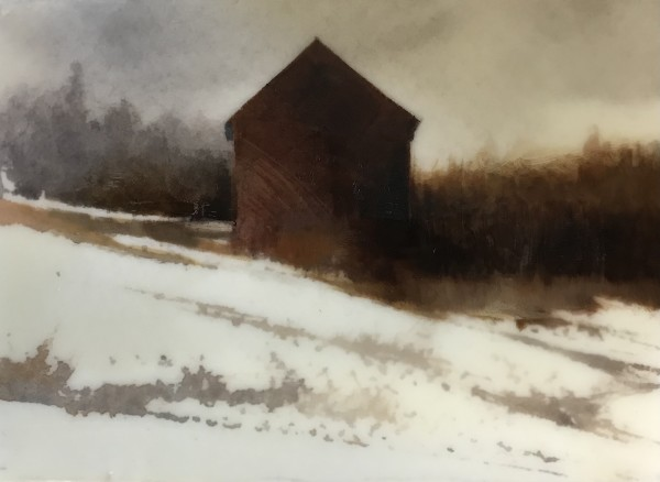 JANUARY ENCAUSTIC I (POLLIE BARN) by Charlie Hunter