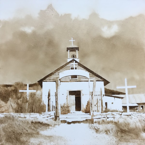 ADOBE CHURCH, HOLMAN, NM by Charlie Hunter