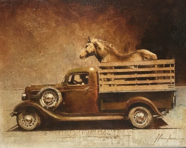 1938 CHEVY TRUCK (WITH HORSE) by Charlie Hunter