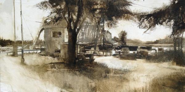 EASTON BRIDGE (VANISHING LANDSCAPE) by Charlie Hunter