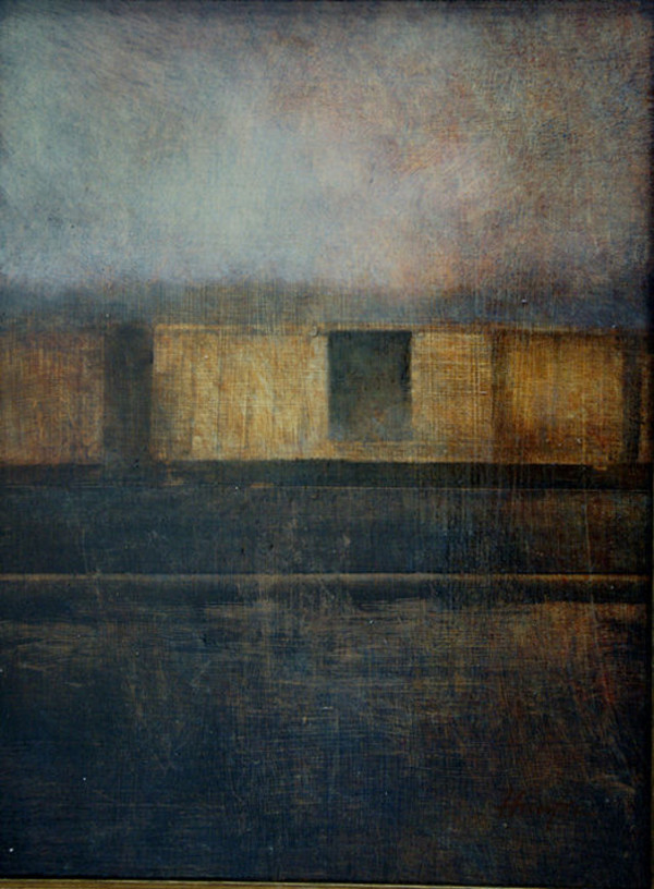 BOXCAR SUNSET (AKA BOXCARS IN GLOAMING) by Charlie Hunter