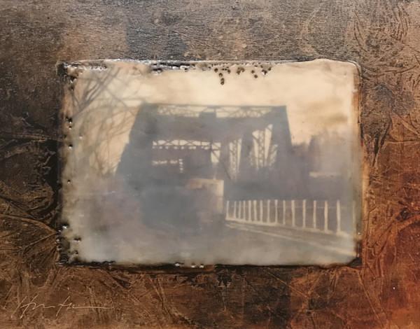 NORTH WALPOLE BRIDGE ENCAUSTIC by Charlie Hunter