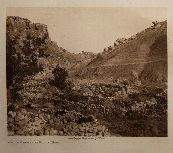 Walled Gardens At Middle Mesa by Edward S. Curtis
