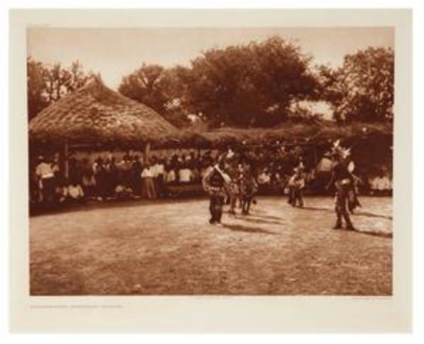 Grass-House Ceremony-Wichita by Edward S. Curtis