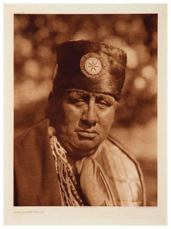 John Abbott-Osage by Edward S. Curtis