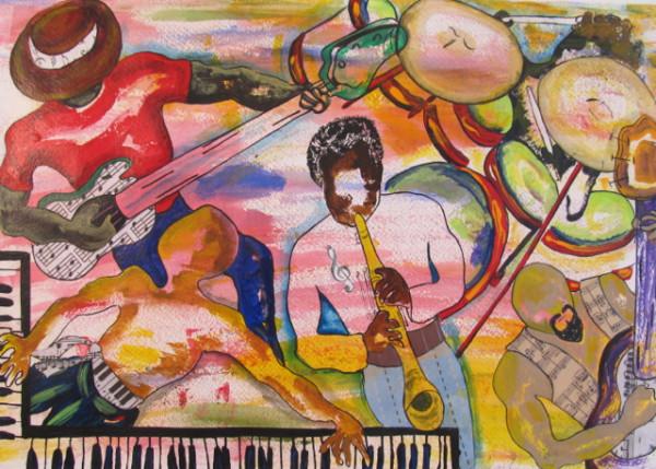 Five Piece Band by Carmen Cartiness Johnson
