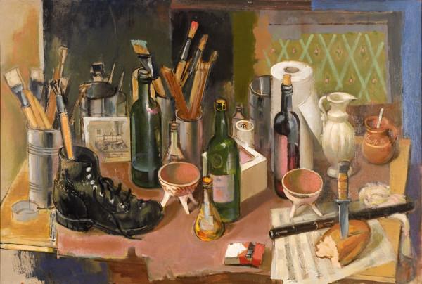 Still Life With Shoe by Adolf Konrad