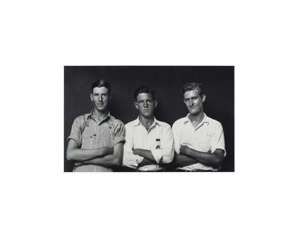 Three Young Men with Arms Cross by Mike Disfarmer