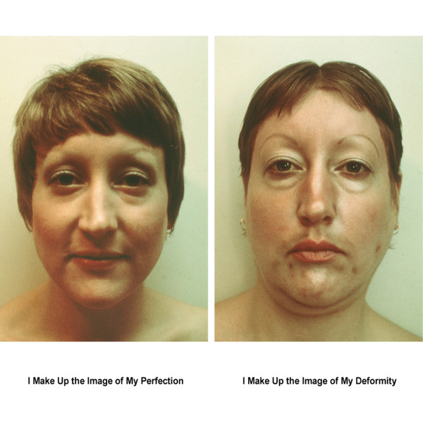 I Make Up the Image of My Perfection/I Make Up the Image of My Deformity by Martha Wilson