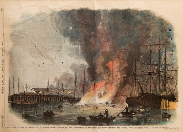 Great Conflagration at Jersey City from Frank Leslie's by Artist Unknown