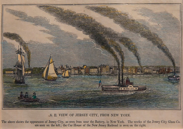 S.E. View of Jersey City from New York by Artist Unknown