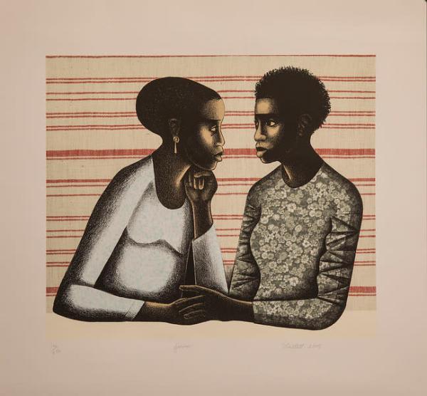 Gossip by E. (Elizabeth) Catlett