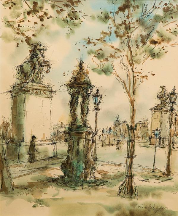 Untitled (Paris Street Scene) by Rodney H.  Cofran