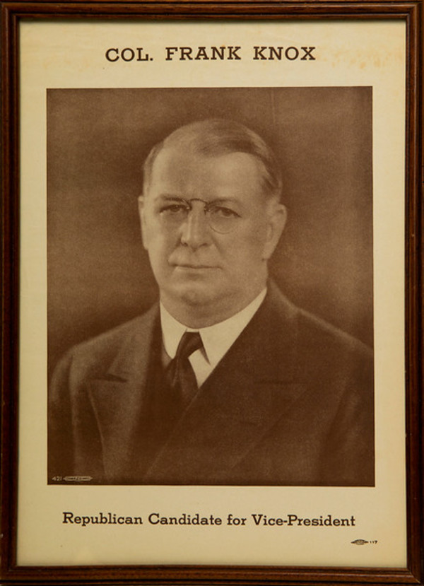 Untitled (Col. Frank Knox--Republican Candidate for Vice President) by Artist Unknown
